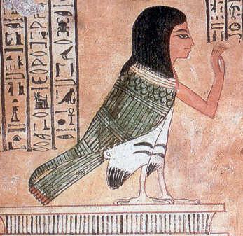 Ba e përfaqësuar në formën e një Varri të shpendëve Nr.359 në Deir El Medina