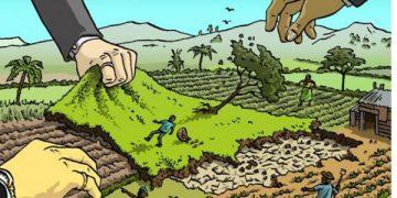 Groposja e tokës ose marrja e tokës nga gjigandët
