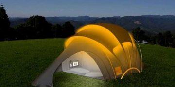 A tenda de concepto solar