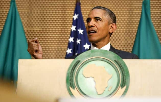 Barack Obama ar afrikāņiem